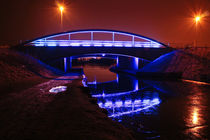 Blue Bridge at night by Buster Brown Photography