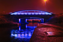 Blue Bridge at night 2 by Buster Brown Photography