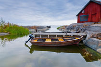 Rowing boat in the Archipelago of Stockholm, Sweden by kbhsphoto