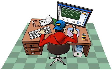 Boy-working-at-computer
