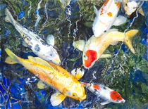 Koi Deep Blue by Patricia Allingham Carlson