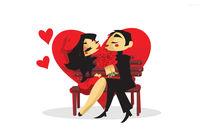 Valentine Couple von Nina Mierowska