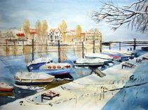 Rheinsteig in Konstanz im Winter von Christine  Hamm