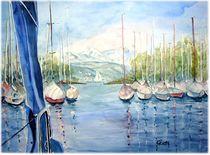 Hafen von Langenargen von Christine  Hamm