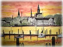 Konstanzer Inselhotel in Abendstimmung by Christine  Hamm