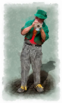 The Clown 3 aquarell by Wessel Woortman