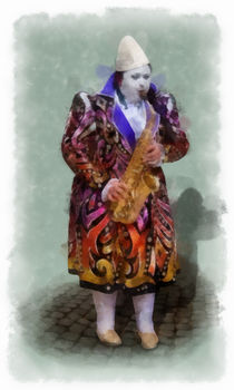 The Clown 5 aquarell by Wessel Woortman