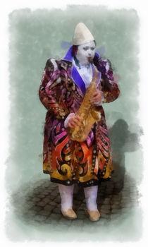 Woortman-w-clown-5-aquarell