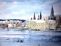 Münster und Inselhotel in Winterstimmung by Christine  Hamm