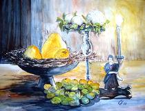 Kerze mit Obstschale von Christine  Hamm