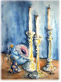Kerzenständer mit Weihnachtskugeln by Christine  Hamm