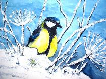 Meise im Schnee by Christine  Hamm