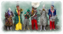 The Clowns 1 aquarell von Wessel Woortman