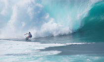 Pipeline Pro Contest Banzai Pipeline North Shore Oahu Hawaii by Kevin W.  Smith