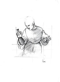 Blessing Monk by Leon Adama