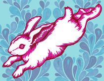 Leaping Rabbit von Abby Rampling