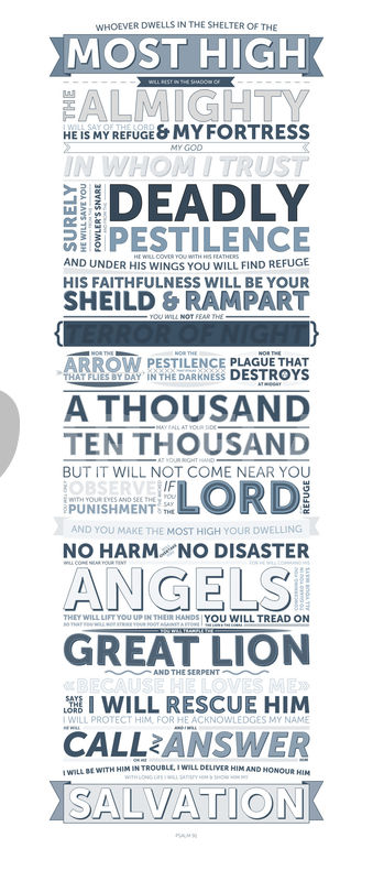U0026quot Psalm 91 U0026quot  Graphic  Illustration Art Prints And Posters By