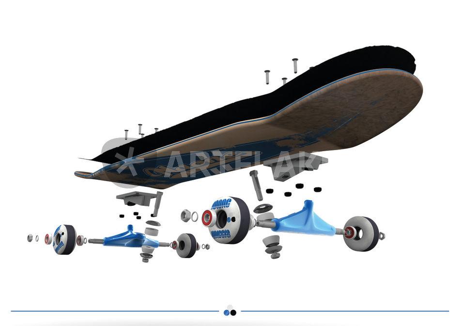 Amazon.com : SCSK8 LONGBOARD Skateboard TRUCKS COMBO set w/ 70mm ...