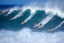 Waimea Bay Crowd North Shore Oahu Hawaii by Kevin W.  Smith