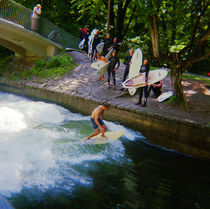 Surf Lineup Munich Bavaria Germany von Kevin W.  Smith