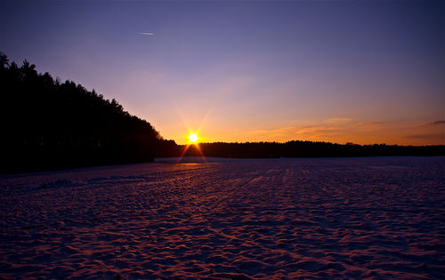 Snowy-sunset