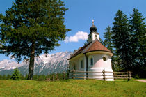 Chapel at Lautersee Bavaria Germany by Kevin W.  Smith