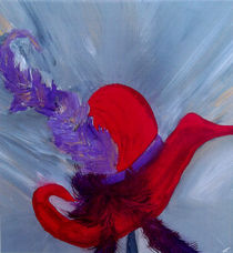 ensemble chapeau rouge von Angela Pari Dominic Chumroo