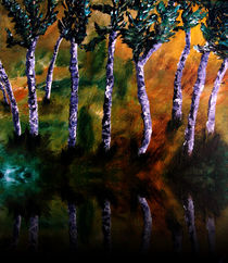 Birch Forest Reflections von Angela Pari Dominic Chumroo