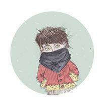 snowing again von Anna Ivanova