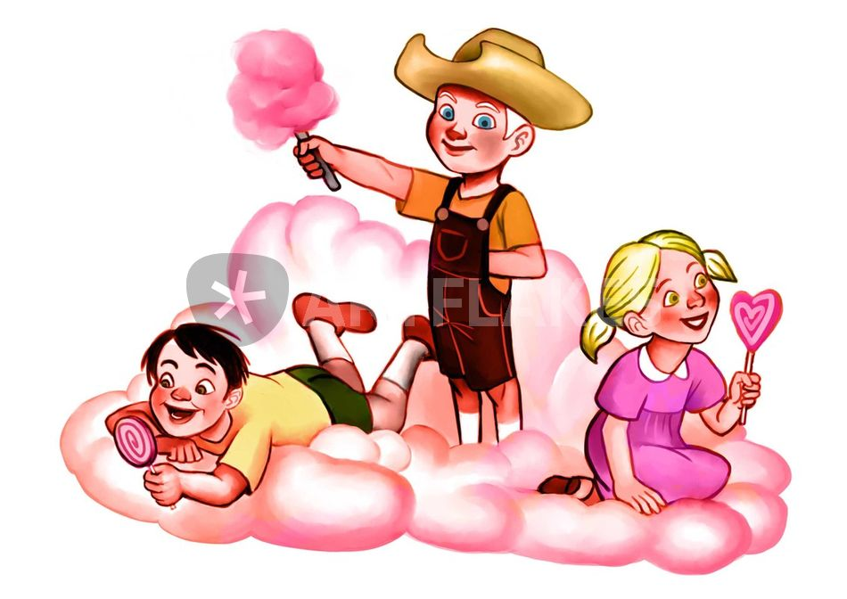 Candy Floss Drawing Candy Floss Cloud Drawing