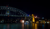 The Harbour Bridge at night by janna-bantan