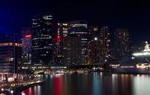Circular Quay night panorama, Sydney, Australia von janna-bantan