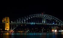 Night Sydney,Harbour Bridge von janna-bantan