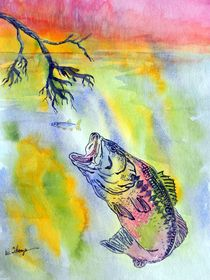 Sunset Dining or Rainbow Bass? by Warren Thompson