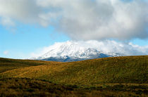 Summer Snow Mt. Ruapehu North Island New Zealand by Kevin W.  Smith