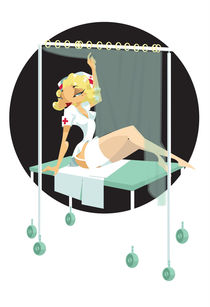NURSE PIN UP by Nina Mierowska