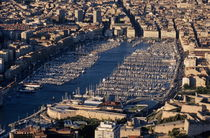 Aerial view of Marseille's Vieux-Port by Sami Sarkis Photography