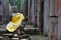 Buddha statue at Bayon Temples von Sami Sarkis Photography