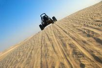 Beach buggy speeding across desert von Sami Sarkis Photography