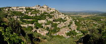 Panoramic view of Gordes Medieval hilltop village by Sami Sarkis Photography