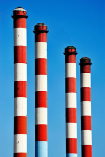 Thermal powerplant chimneys by Sami Sarkis Photography