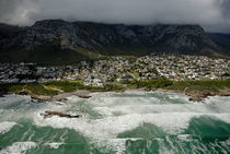 Hermanus village by stormy day by Sami Sarkis Photography