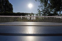 Table Tennis Net in garden by Sami Sarkis Photography