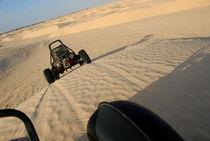 Beach buggies speeding across desert von Sami Sarkis Photography