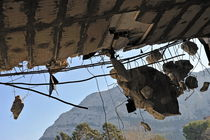 Building ceiling under destruction by Sami Sarkis Photography