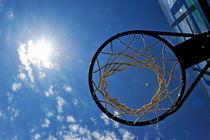 Basketball Hoop and the Sun by Sami Sarkis Photography