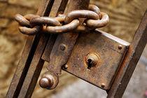 Rusty chain on metal gate von Sami Sarkis Photography