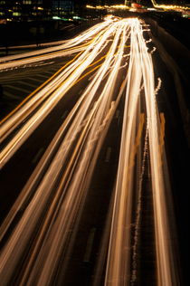 Blurred traffic at night( long exposure) by Sami Sarkis Photography