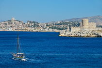 Sailboat cruising by Chateau d'If by Sami Sarkis Photography