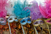 Traditional Venetian masks with feathers by Sami Sarkis Photography